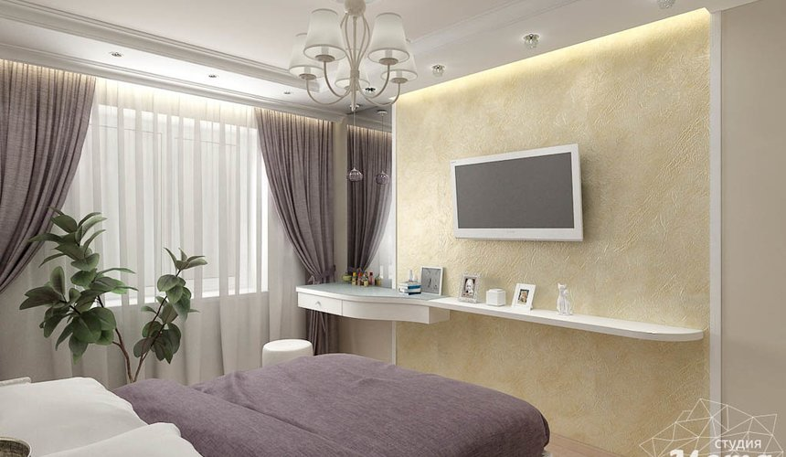 Дизайн интерьера двухкомнатной квартиры по ул. Шаумяна 93 15