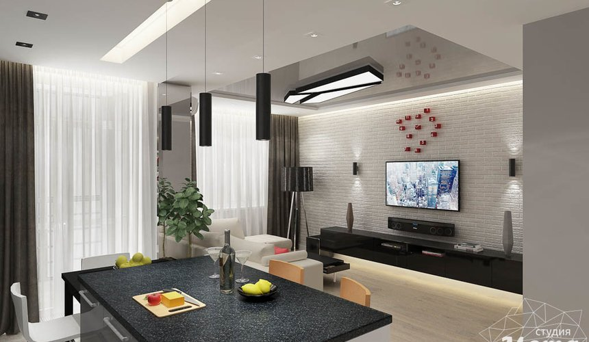 Дизайн интерьера двухкомнатной квартиры в ЖК Крылов 4