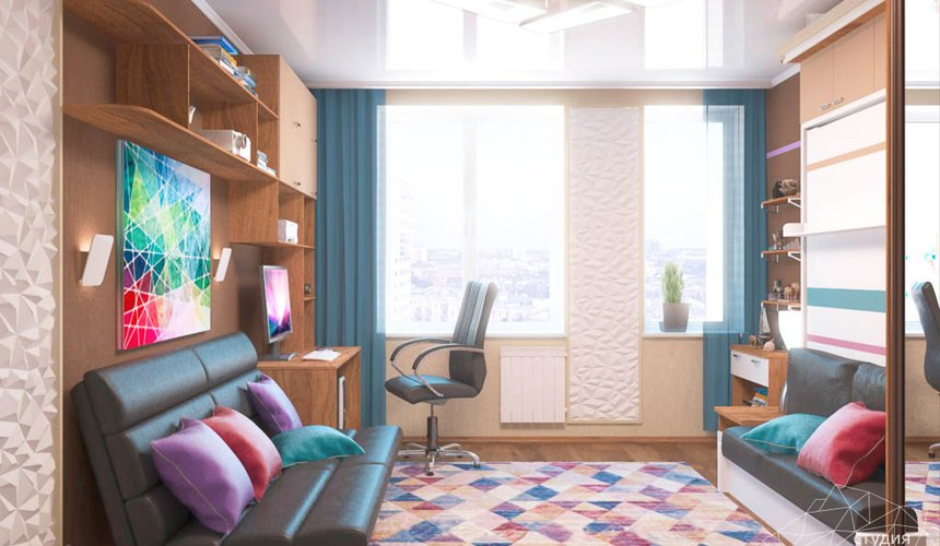Дизайн интерьера однокомнатной квартиры по ул. Соболева 19 4