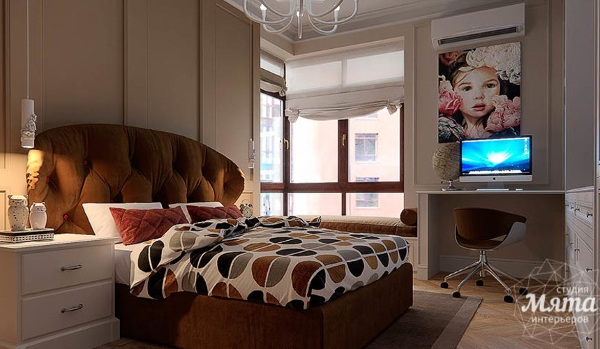 Дизайн интерьера четырехкомнатной квартиры в Новосибирске 26