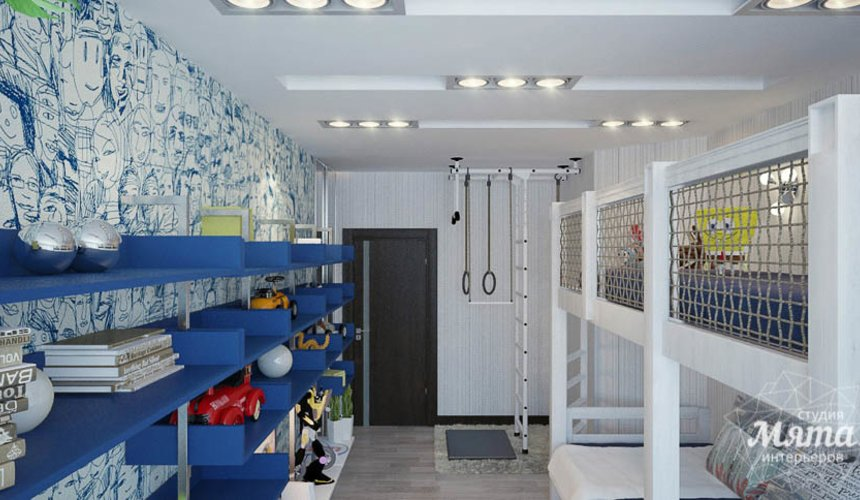 Дизайн интерьера трехкомнатной квартиры Шейнкмана 121 23