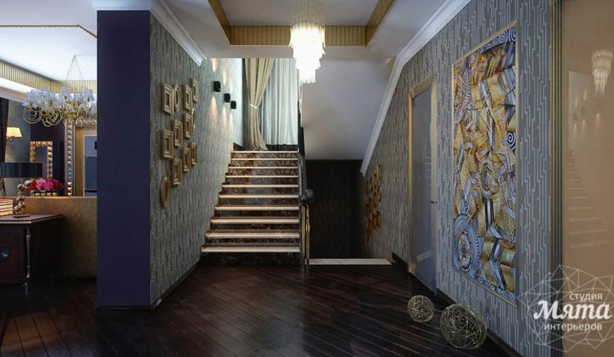 Дизайн интерьера коттеджа в Новосибирске  12