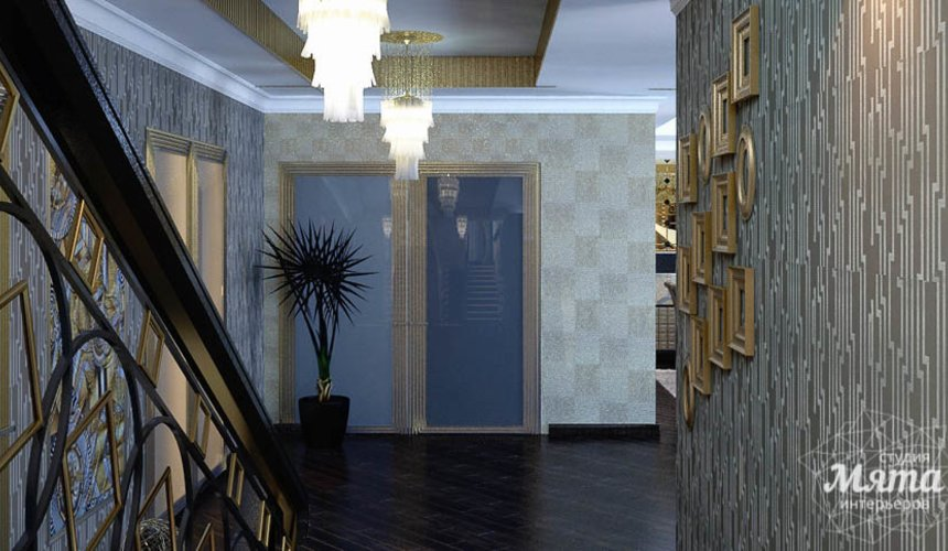 Дизайн интерьера коттеджа в Новосибирске  13