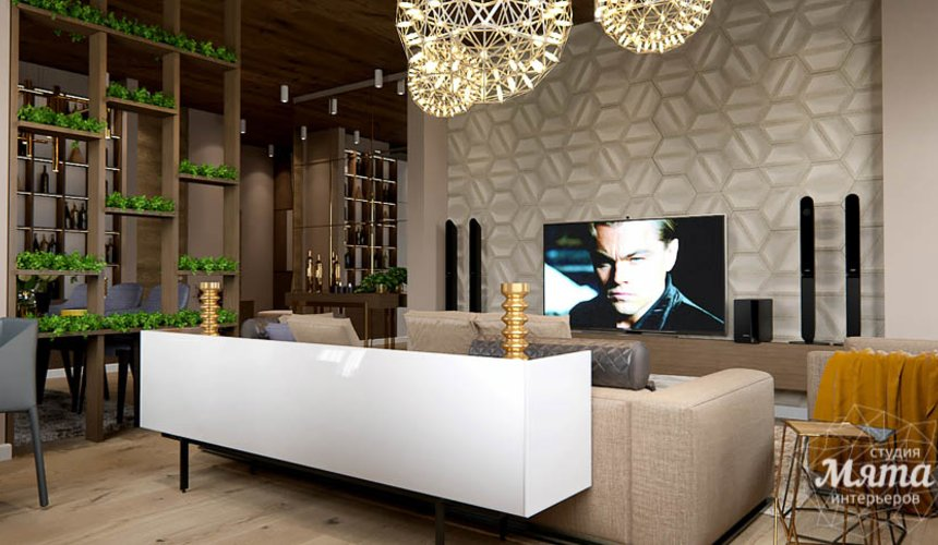 Дизайн интерьера двухкомнатной квартиры в Сочи 9