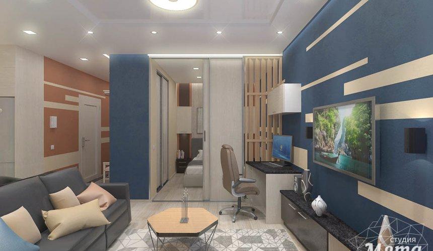 Дизайн интерьера однокомнатной квартиры в ЖК Крылов 9