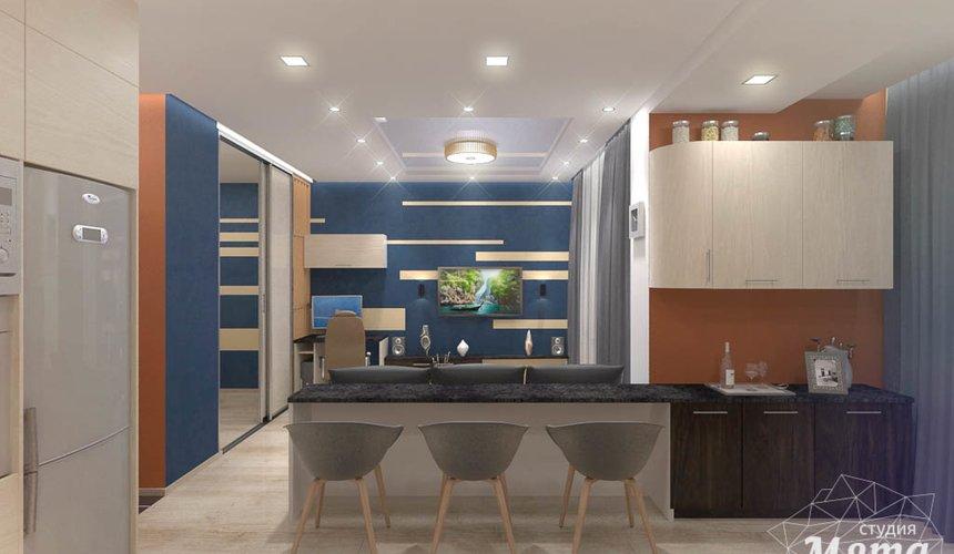 Дизайн интерьера однокомнатной квартиры в ЖК Крылов 10