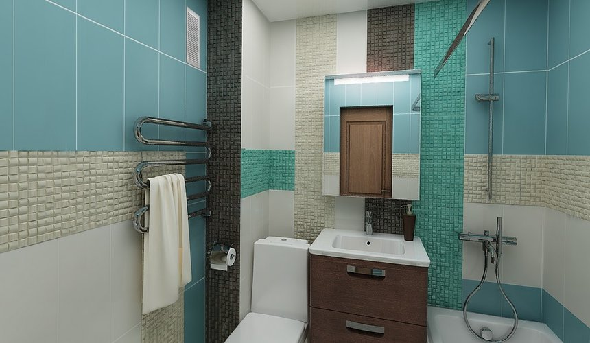 Дизайн интерьера ванной комнаты по ул. Фурманова 48 4