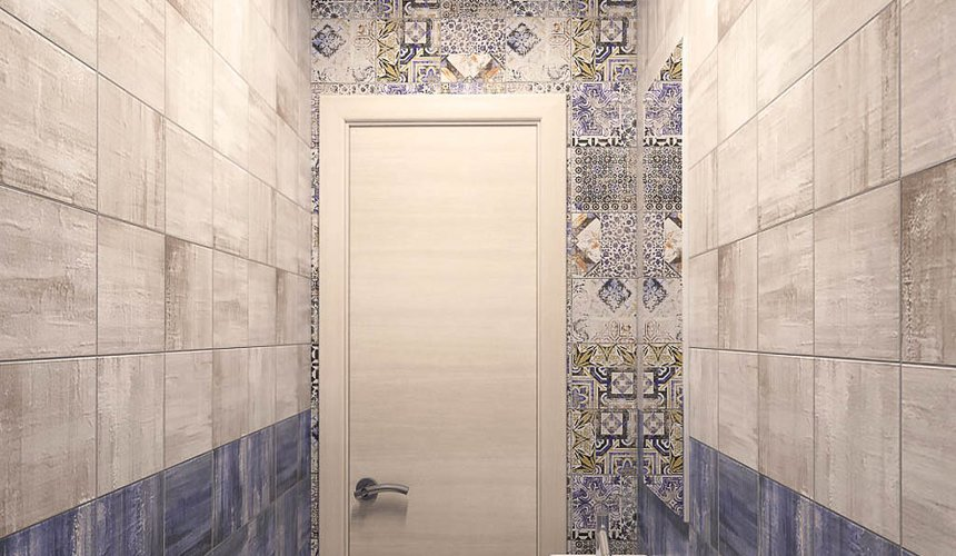 Дизайн интерьера ванной комнаты и санузла по ул. Трактористов 4 7