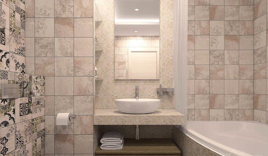 Дизайн интерьера ванной комнаты и санузла по ул. Трактористов 4 3