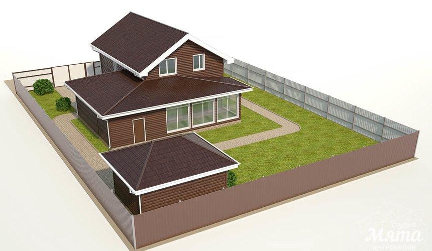 Дизайн фасада коттеджа в КП Алые Паруса 4