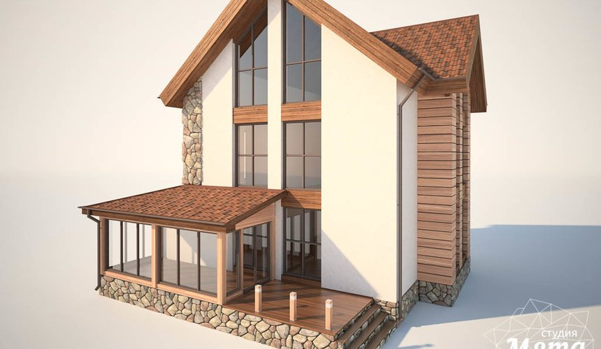 Дизайн фасада коттеджа в Хрустальном 3