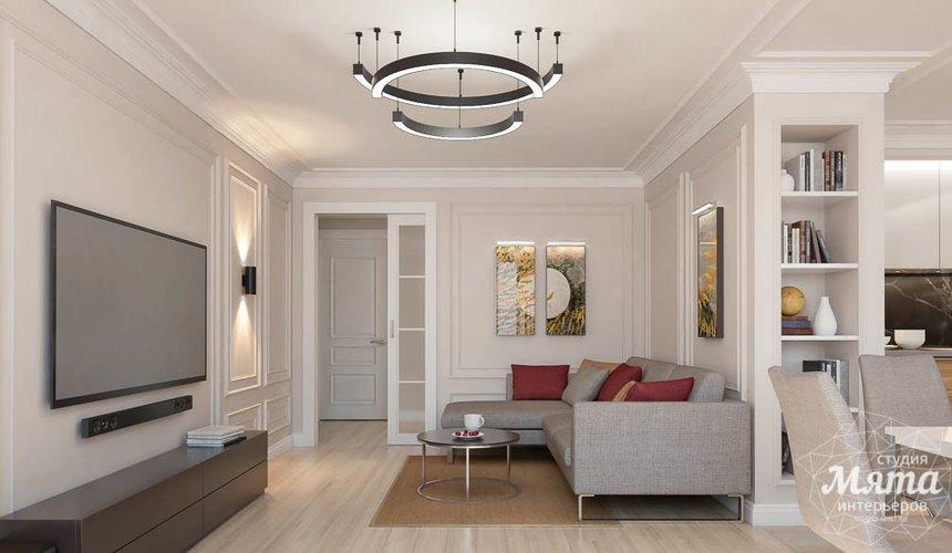 Дизайн интерьера трехкомнатной квартиры в ЖК Малевич 7