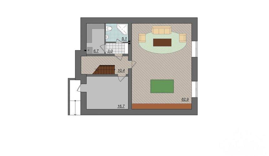 Дизайн фасада коттеджа 314м2 в Сысерти 5