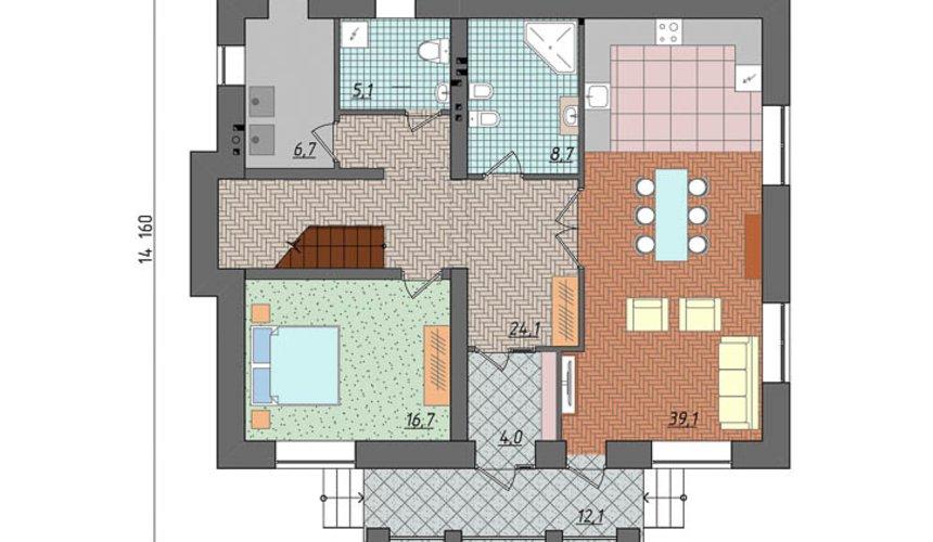 Дизайн проект фасада двухэтажного дома 210 м2 в Сочи 4