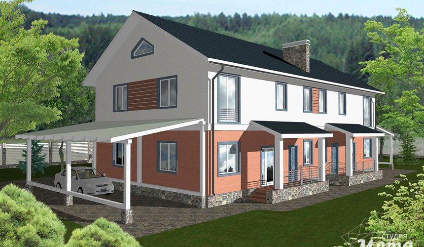 Дизайн-проект фасада коттеджа 335 м2 в КП Лукоморье 2