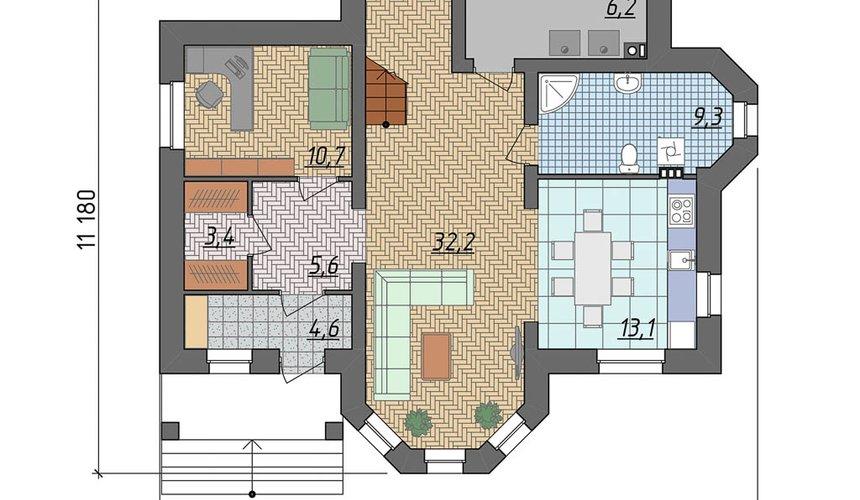 Дизайн фасада дома 160м2 в КП Александрия 4