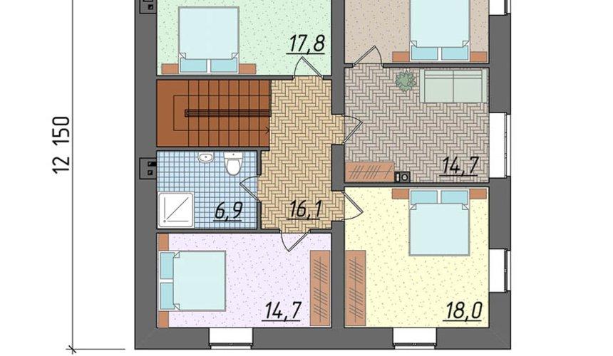 Дизайн фасада дома 270 м2 в КП Заповедник 4