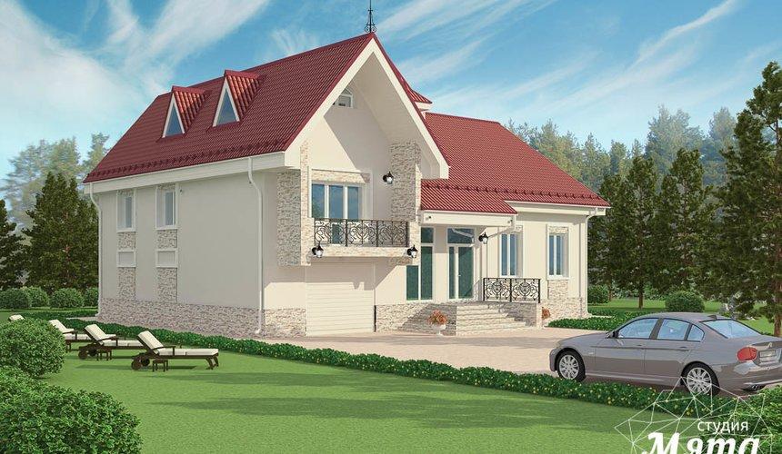 Дизайн фасада коттеджа 195 м2 в г. Екатеринбург 5