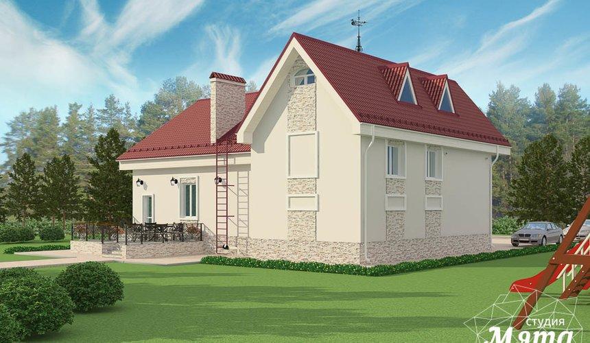 Дизайн фасада коттеджа 195 м2 в г. Екатеринбург 8