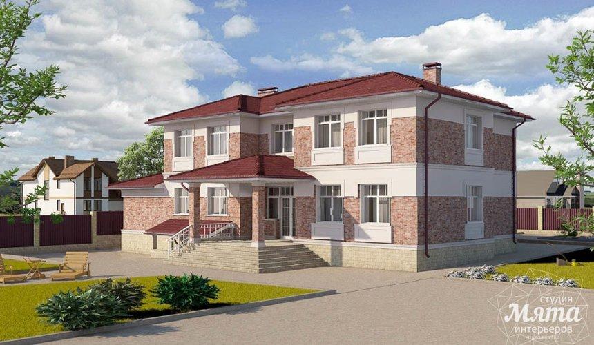 Дизайн фасада коттеджа 379 м2 в п. Мельница 5