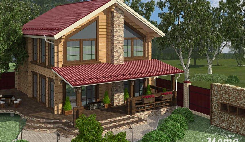 Дизайн фасада дома 532 м2 и бани 152 м2 г. Арамиль 21