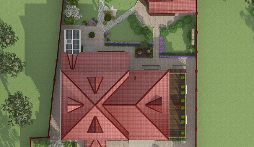 Дизайн фасада дома 532 м2 и бани 152 м2 г. Арамиль 13
