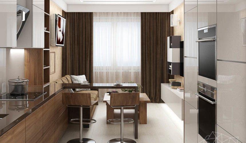 Дизайн интерьера двухкомнатной квартиры в ЖК Первый Николаевский 5