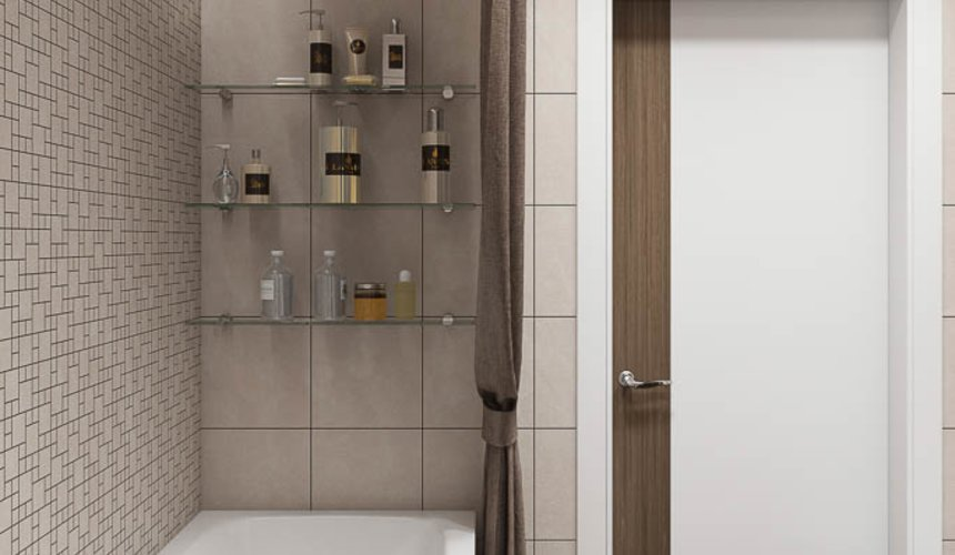 Дизайн интерьера двухкомнатной квартиры в ЖК Первый Николаевский 23