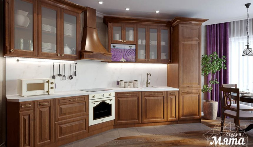 Дизайн интерьера кухни в коттедже п. Верхнее Дуброво 3