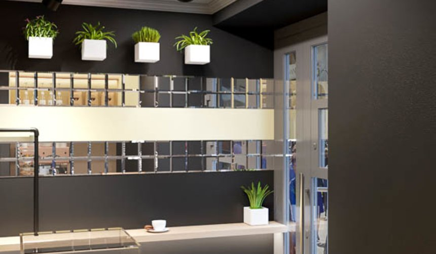 Дизайн интерьера кофейни Кофе с собой 4