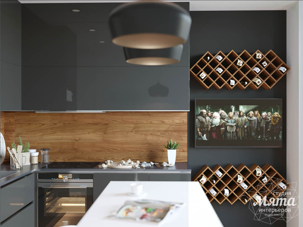 Дизайн интерьера однокомнатной квартиры в ЖК Чемпион Парк   Студия дизайна интерьеров Мята в Екатеринбурге