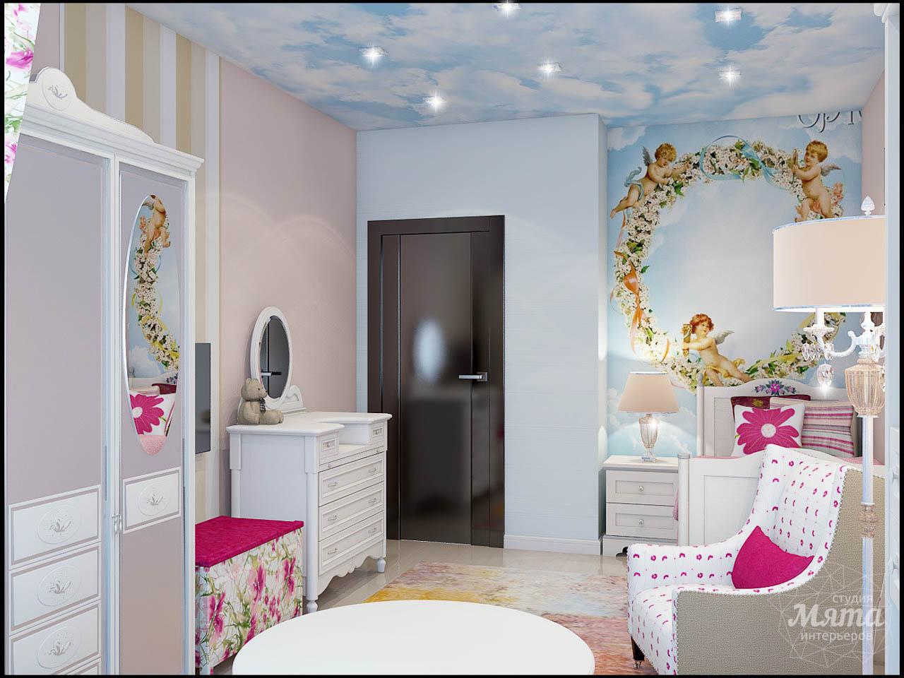 современный стиль комнаты для девочки