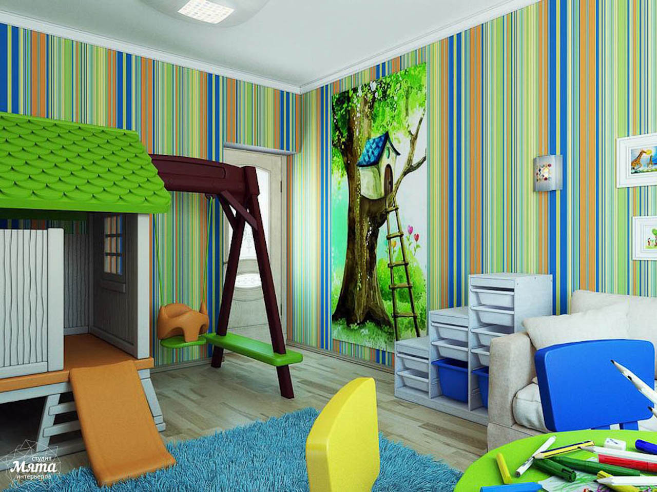 стиль комнаты для маленького мальчика фото
