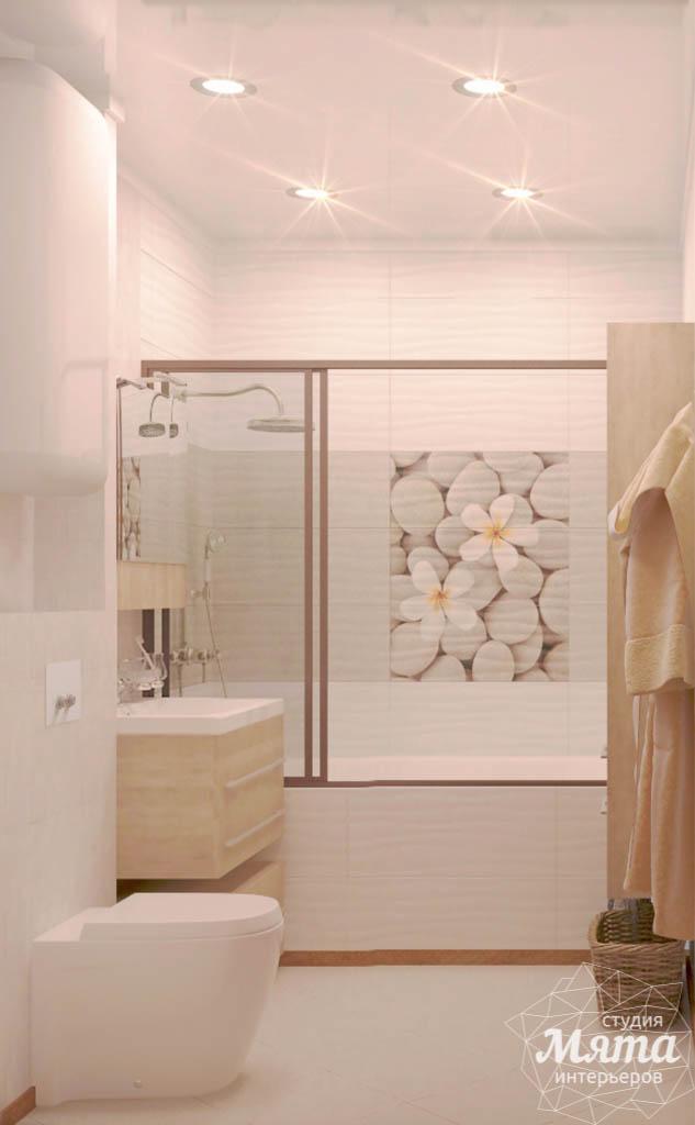 современный дизайн ванной комнаты с душевой кабиной