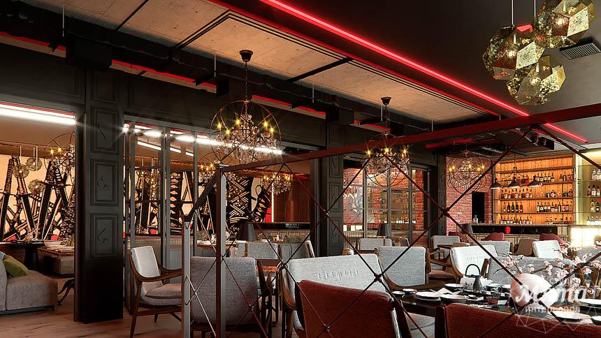 Дизайн интерьера кафе в Сочи  img1939759807