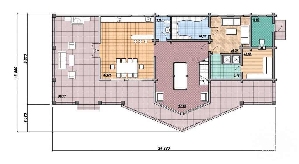 Дизайн фасада дома 165 м2 в г. Нефтеюганск 5