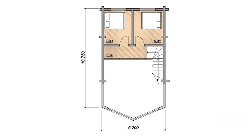 Дизайн фасада дома 165 м2 в г. Нефтеюганск 4