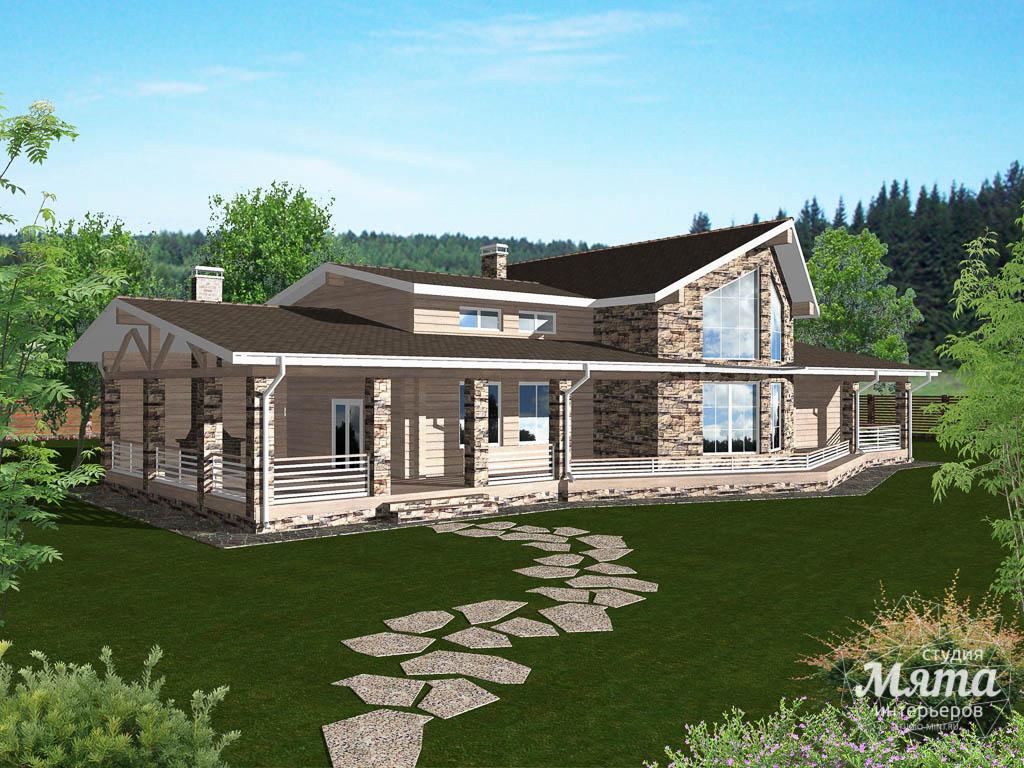Дизайн фасада дома 165 м2 в г. Нефтеюганск 2