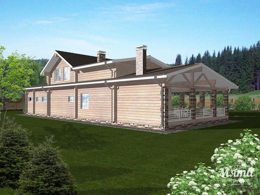 Дизайн фасада дома 165 м2 в г. Нефтеюганск 3
