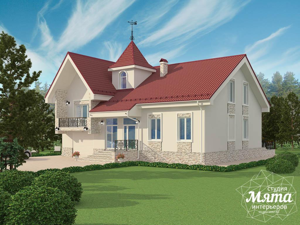 Дизайн фасада коттеджа 195 м2 в Москве img101029241