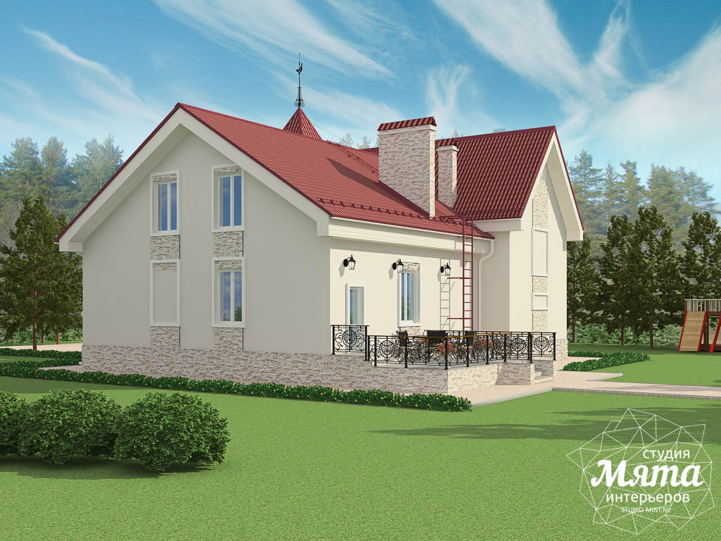 Дизайн фасада коттеджа 195 м2 в Москве img1922093287