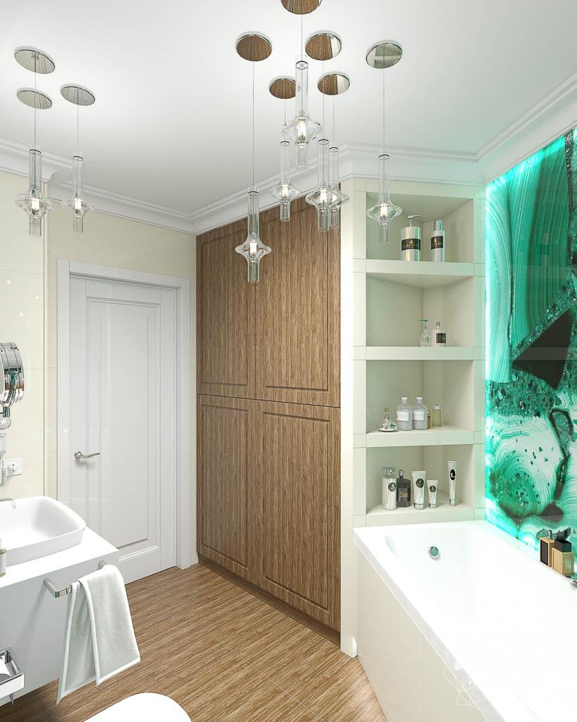 Дизайн интерьера гостиной и санузлов четырехкомнатной квартиры в ЖК Флагман img1782957229