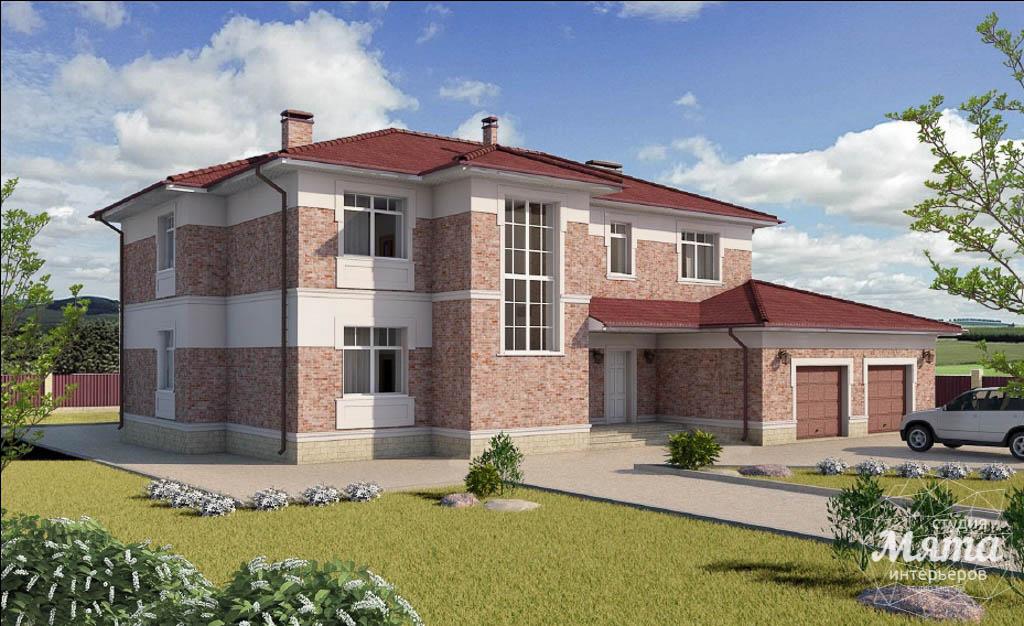 Дизайн фасада коттеджа 379 м2 в п. Мельница img807714416