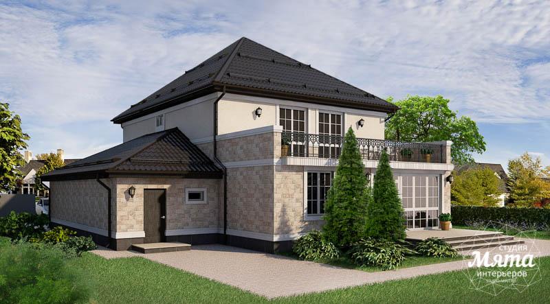 Дизайн фасада коттеджа 200 м2 в г. Тюмень 10