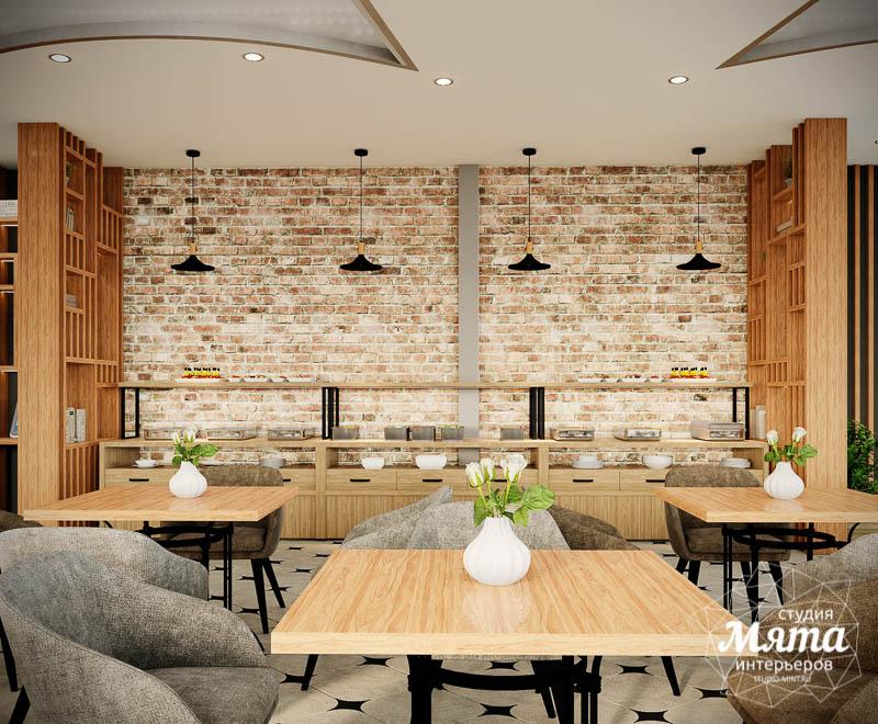 Дизайн интерьера ресторана термального комплекса Акварель г. Туринск 7
