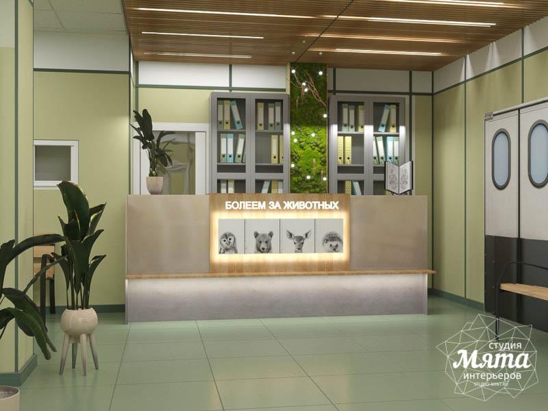Дизайн интерьера ветеринарной станции г. Екатеринбурга 1