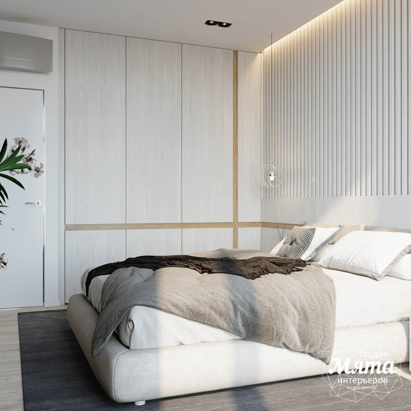 Дизайн интерьера двухкомнатной квартиры в ЖК Чемпион Парк 22
