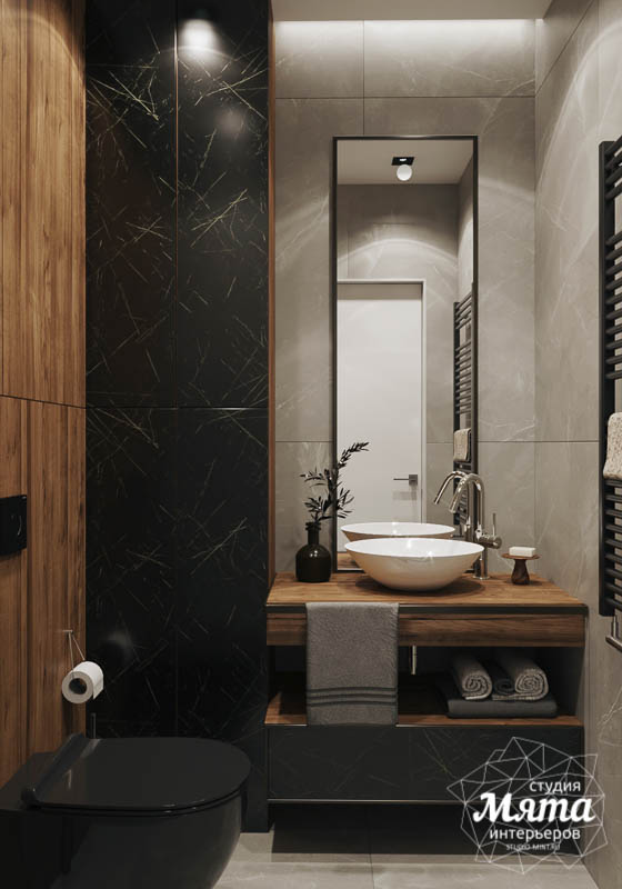 Дизайн интерьера двухкомнатной квартиры в ЖК Чемпион Парк 12
