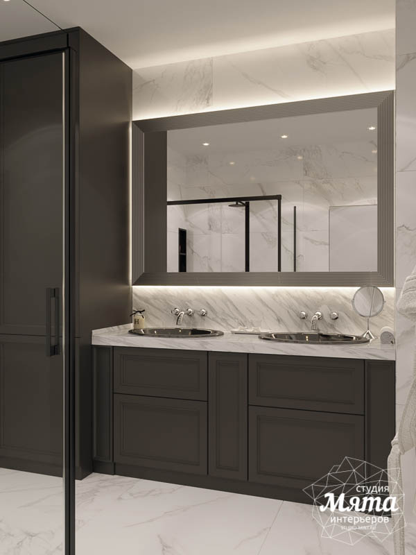 Дизайн интерьера двухкомнатной квартиры в ЖК Чемпион Парк 26