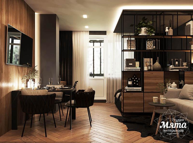 Дизайн интерьера квартиры - студии в ЖК Гринвуд 11